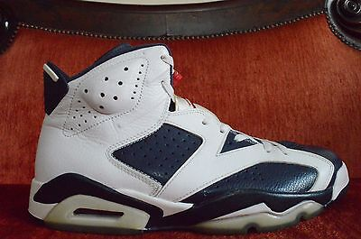 quality design 58164 8551e VNDS Nike Air Jordan VI 6 Retro White Navy-Red Olympic 2012 384664-