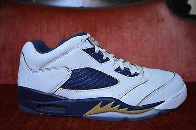 f67ce1de073d07 NIKE AIR JORDAN V 5 Retro Low Dunk From Above 819171-135 White Navy ...