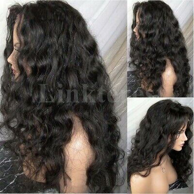 Soft Deep Curly Lace Front Wig Peruvian Virgin Human Hair Silk Top Full Lace Wig