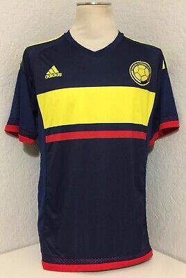 8a403586c Mens Adidas JAMES RODRIGUEZ  10 COLUMBIA COLOMBIA SOCCER WORLD CUP JERSEY  SZ XL