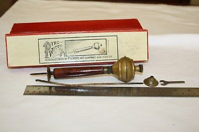 VERY RARE Early Vintage Pyro-Witch Lamp Burner Flemish Art Co Patent Applied For