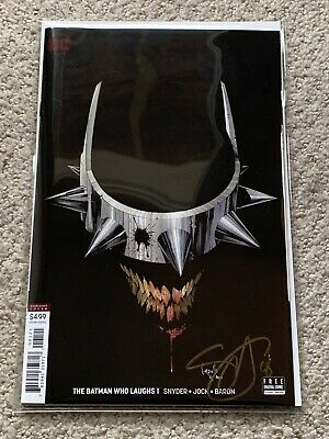The Batman Who Laughs #1! Capullo Variant! Signed-Scott Snyder! NM! COA!