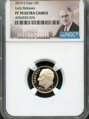 2019 S Clad Roosevelt Dime Early Releases NGC PF70 Ultra Cameo (Portrait)