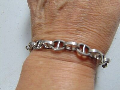 """Sterling Silver Bracelet Made In Italy Fits A Size 8"""" Wrist Different 22 Grams"""