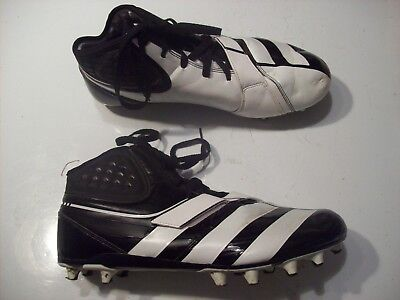 promo code 337ff 5fb81 Adidas Art G20993 Malice Fly Black White Football Cleats Shoes Size 12  cLOSeT