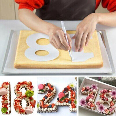 Plastic Number Cake Mold Decorating Tools Birthday Cake Design Pastry Tool