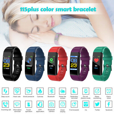 Fitness Kids Fitbit Smart Watch Activity Tracker Android Heart Rate ISO Gift