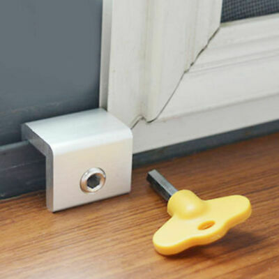 Kids Safe Door Window Track Limiter Sliding Security Restrictor Anti-theft Lock