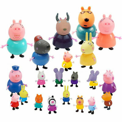 4/10/25 Peppa Pig Family&Friends Emily Rebecca Suzy Action Figures Toys Kid Gift