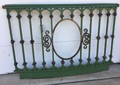 Antique Ornate Iron Architectural Salvage Curved Railing Circus Train Balcony