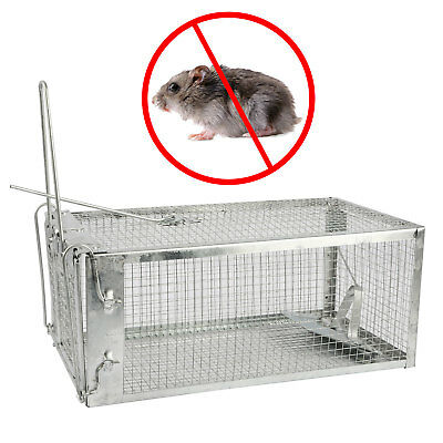Rat Catcher Spring Cage Trap Humane Large Animal Pet Rodent Indoor Outdoor UK