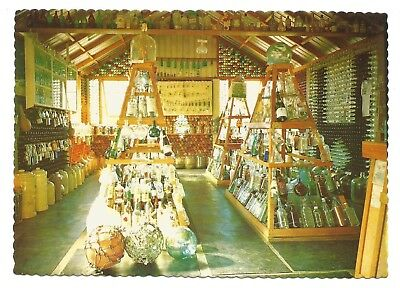 QLD - c1970s POSTCARD - INTERIOR OF THE HOUSE OF BOTTLES, TEWANTIN, QUEEENSLAND