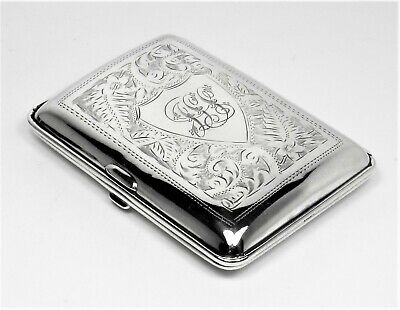 Cigarette case engraved sterling silver very beautiful - 1918