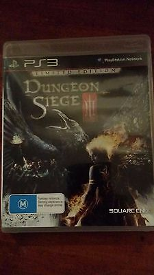 Dungeon Siege III 3 (Sony Playstation 3, PS3) RPG Limited Edition Complete