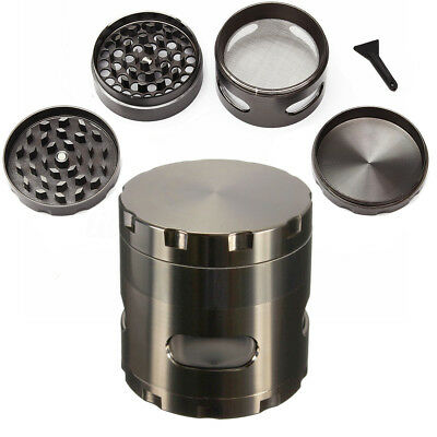 55mm 4 Layers Zinc Alloy Hand Crank Herb Mill Crusher Tobacco Smoke Grinder