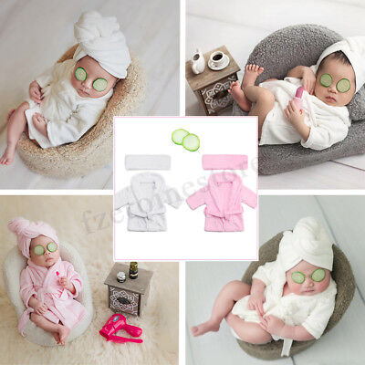 Newborn Baby Soft Costume Photo Prop Model Photography Bathrobe Outfit 0-6M Old