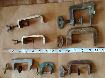 7  vintage   small G CLAMPS