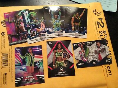 Naomi 7 card lot from 2018 WWE Topps Women's Division Set 3 insert cards Uso