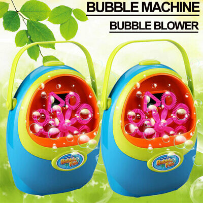 1x Automatic Bubble Blower Blowing Maker Machine for Kids Toddlers Party Effect