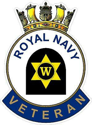 Royal Navy Writer Veteran Sticker Uk - Cars - Vans - Laptops