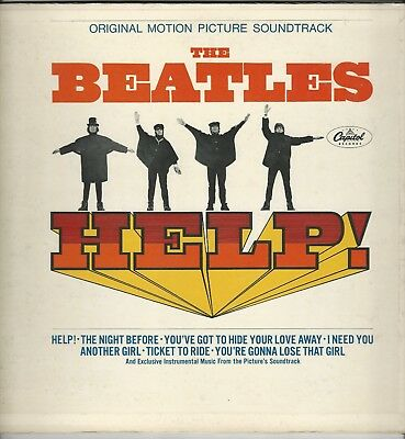 """The Beatles """"Help"""" 1965 LP Capitol MAS 2386 """"The Night Before"""" """"Ticket To Ride"""""""