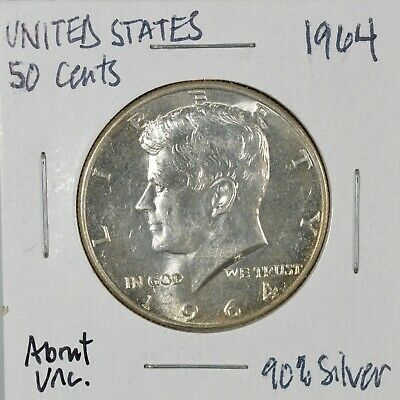 Beautiful 1964 Kennedy Half Dollar, About Uncirculated