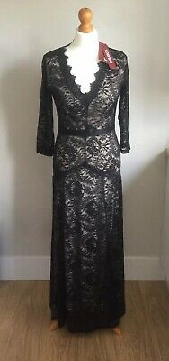 Miusol Lace Floral Chiffon 34 Sleeve Prom Gown Maxi Dress