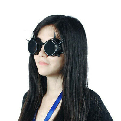 Unisexe Lunette Steampunk Vintage Pointue Soudure Punk Protect Yeux Cosplay Mode