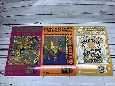"""King Gizzard & The Lizard Wizard 3 Double-sided Promo Posters - 11"""" x 17"""""""