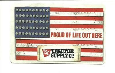 Tractor Supply Company American Flag Gift Card No $ Value Collectible TSC USA