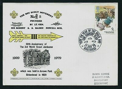 GB 1979 FDC Year of the Child, cub Country Scout Year SHS Birkenhead Used