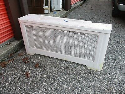 Vintage Metal Radiator Cover With  Lid Approx 57 X 27  X 14 Pick Up Only!!!!!!!!
