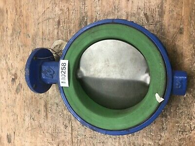 "Butterfly Valve 6"" 150 KEYSTONE Wafer Bare Stem Stainless Steel Disc Teflon Seat"