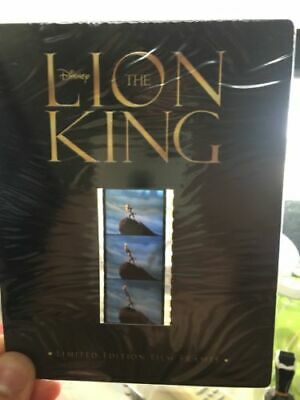 New / Sealed Disney's The Lion King - Limited Ed Film Frames Cells 35 Mm Strip