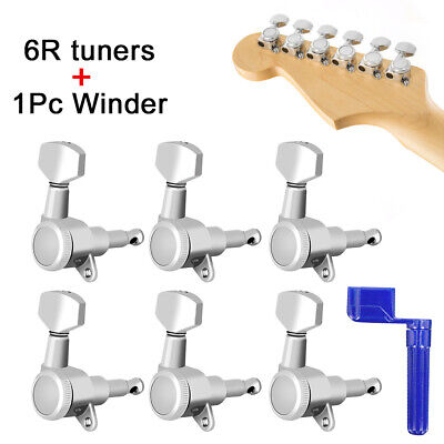Musical Instruments Sports & Entertainment 6pcs Right Side Locking Electric Guitar Tuning Pegs Keys Machine Heads 6r Chrome For Electric Guitar Parts