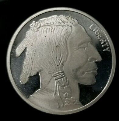 United States Indian Head/Buffalo 1 Oz .999 Fine Silver Round [SC8307]