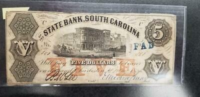1857 STATE BANK, South Carolina, Charleston - Five Dollar