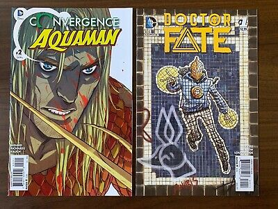Doctor Fate #1 & Convergence: Aquaman #2...1st Prints 1ST APP PREVIEW DC VF/NM