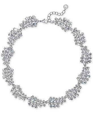 Charter Club Silver-Tone Marquise Crystal All-Around Collar Necklace
