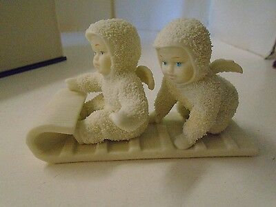 Department Dept 56 SNOWBABIES Down the Hill We Go Sled Original Box Retire 79500