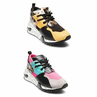 7d2caf49c13 Steve Madden Cliff Bright Trainers Womens Athleisure Sneakers Shoes Footwear