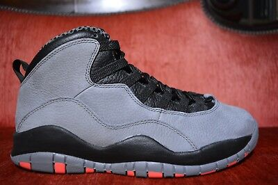 huge discount 8a61a 7445a WORN 1X Nike Air Jordan Retro 10 Cool Grey Infrared-Black Infrared Size 8