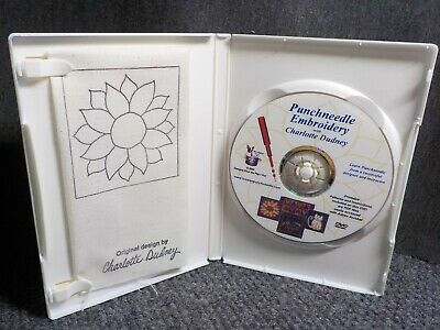 Punchneedle Embroidery with Charlotte Dudney DVD & Pre-Printed Sunflower Fabric