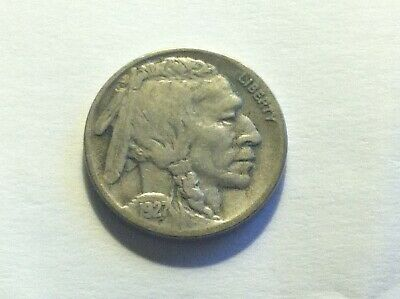 1927-S Buffalo Indian Head Five Cent Nickel 5c