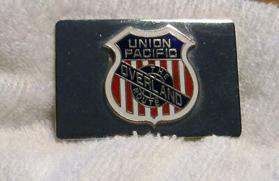 Union Pacific Railroad Overland Route Metal Belt Buckle Vintage