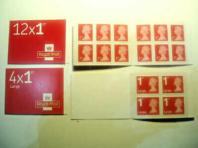 Royal Mail 1st class Book of 2 x12 Letter(24 Stamps), 2x4 Large Letter(8 stamps)
