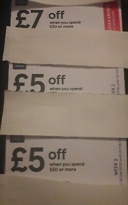 Tesco Clubcard Money Off Discount Voucher Coupons £18 Worth