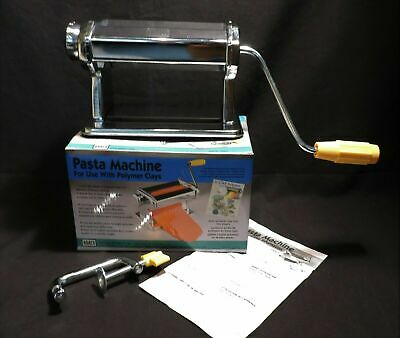 NEW AMACO Crafting Pasta Machine for Polymer Clay Soft Metal Sheets 7 Settings