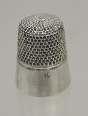 Sewing Vintage Thimble Sterling Silver Simons Brothers Engraved