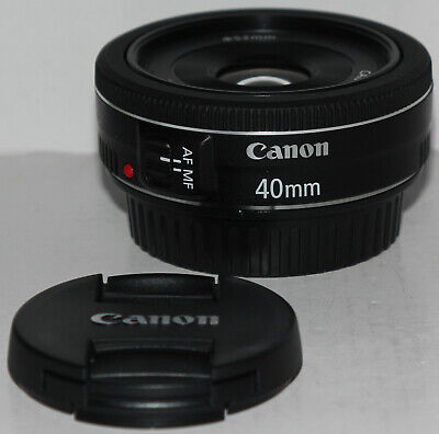 Canon EF 40mm f/2.8 STM 'pancake' prime lens (no box but in excellent condition)
